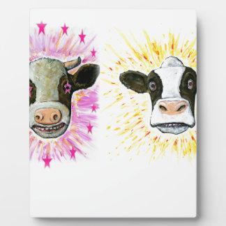 Crazy Cows Plaque
