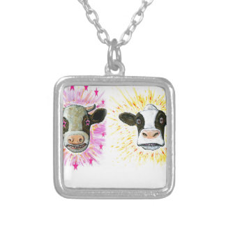 Crazy Cows Silver Plated Necklace