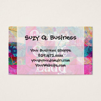 Crazy Craft Lady Colorful Pattern Vibrant Crafting