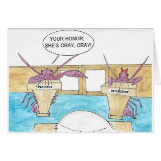 Crazy Crayfish Birthday Card