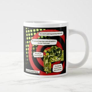 Crazy, Crazy, Crazy by Aleta Large Coffee Mug