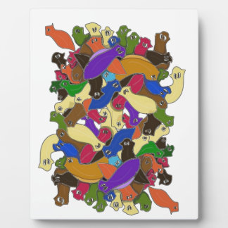 Crazy Cross Eyed Planarian Worms Design 2 Photo Plaques