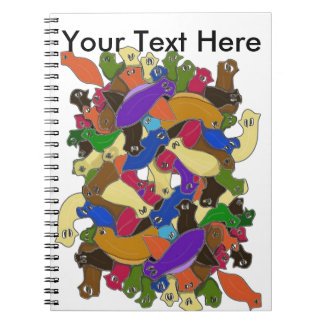 Crazy Cross Eyed Planarian Worms Redesigned Spiral Notebooks