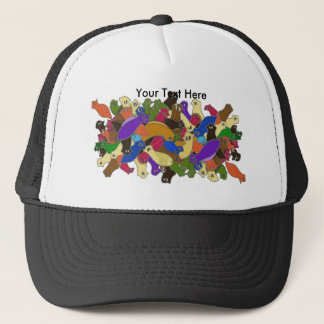 Crazy Cross Eyed Planarian Worms redesigned Trucker Hat