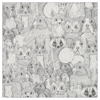 crazy cross stitch critters fabric