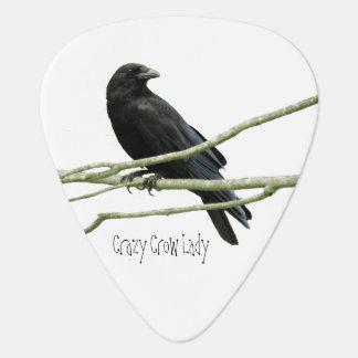 Crazy Crow Lady Guitar Pick