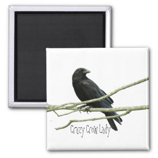 Crazy Crow Lady Magnet