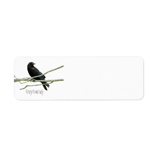 Crazy Crow Lady Return Address Labels