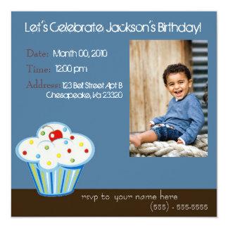 """Crazy Cupcake Invitation 5.25"""" Square Invitation Card"""