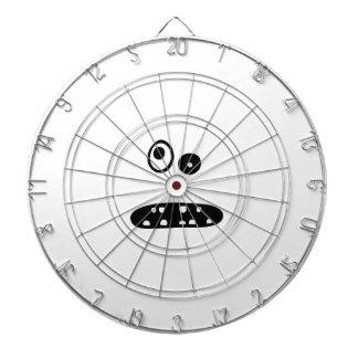 Crazy cute face illustration dartboard