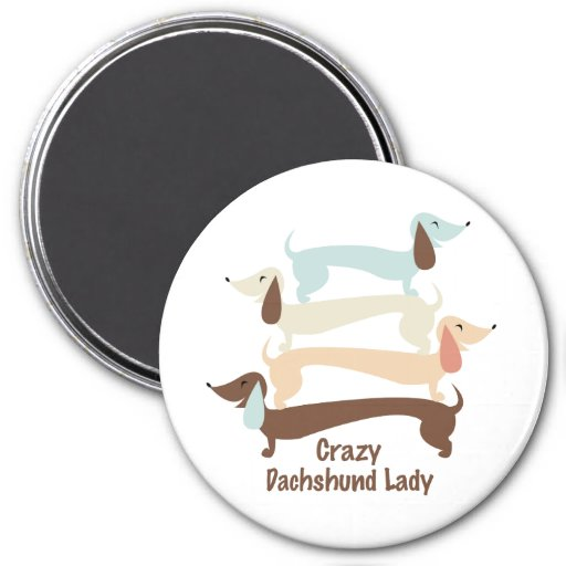 Crazy Dachshund Lady Magnet