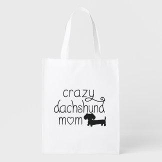 Crazy Dachshund Mom Wiener Dog Tote bag
