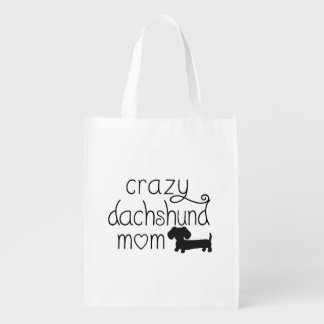 Crazy Dachshund Mom Wiener Dog Tote bag Market Totes