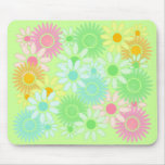 Crazy Daisy retro style mousepad Flower power