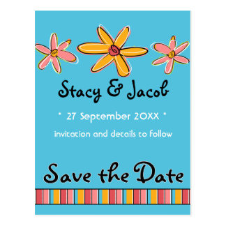 "Crazy Daisy ""Save the Date"" Postcard"