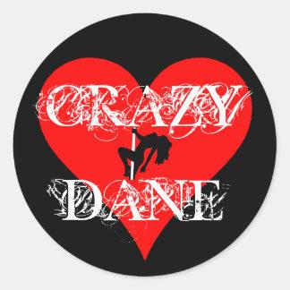 Crazy Dane Sticker