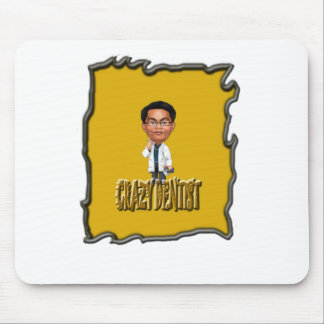 Crazy Dentist coloring Yellow Mouse Pads
