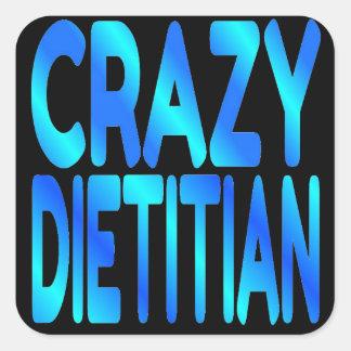 Crazy Dietitian Square Sticker