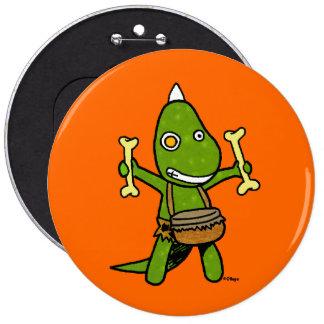 Crazy Dino 6 Cm Round Badge