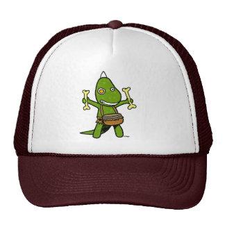 crazy dino mesh hats