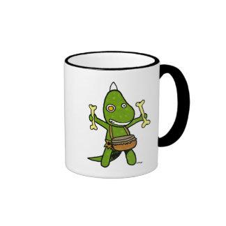 crazy dino ringer mug