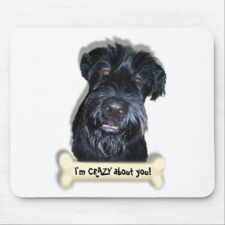 Crazy Dog and bone Mouse Pad