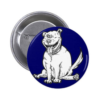Crazy-Dog Pinback Buttons