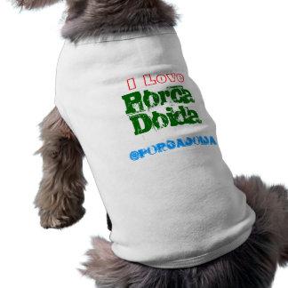 Crazy dog sleeveless dog shirt