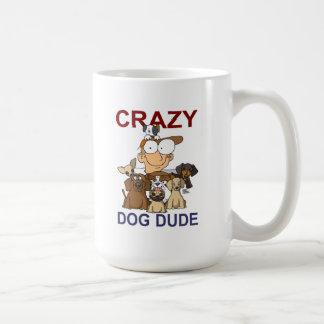 Crazy Dog Dude Basic White Mug