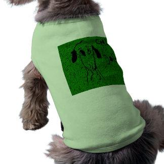 Crazy Dog Green Pet T Shirt