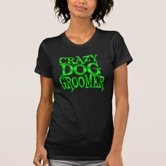 Crazy Dog Groomer in Green Tee Shirt