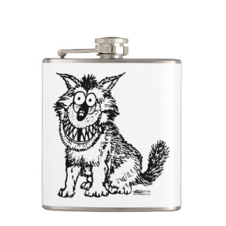 Crazy Dog Hip Flask
