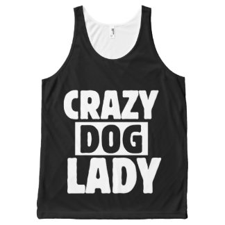 Crazy Dog Lady All-Over Print Singlet