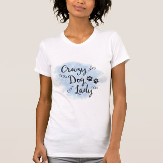 Crazy Dog Lady (Blue) T-Shirt