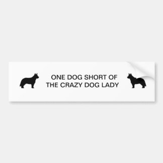Crazy Dog Lady Bumper Sticker