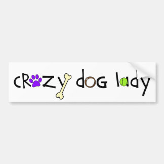Crazy Dog Lady - Bumper Sticker (light)