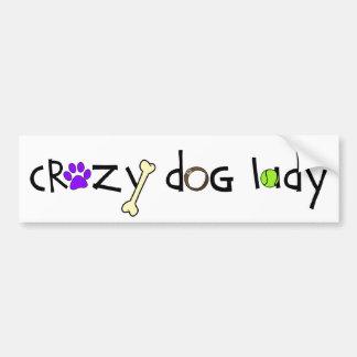Crazy Dog Lady - Bumper Sticker (light)