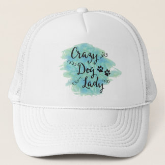 Crazy Dog Lady (Green/Blue) Trucker Hat