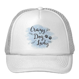Crazy Dog Lady (Light Blue) Cap