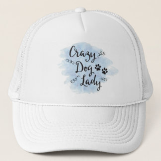 Crazy Dog Lady (Light Blue) Trucker Hat