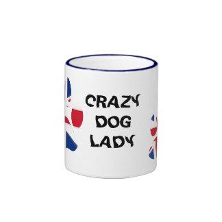 Crazy dog lady ringer mug