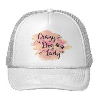Crazy Dog Lady (Pink/Orange) Cap