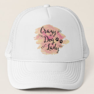 Crazy Dog Lady (Pink/Orange) Trucker Hat