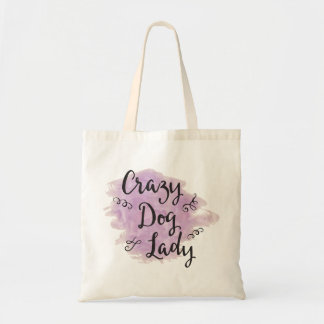 Crazy Dog Lady (Purple) Tote Bag