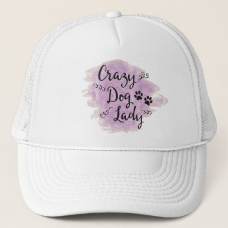 Crazy Dog Lady (Purple) Trucker Hat