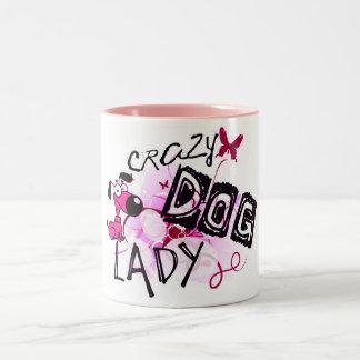 Crazy Dog Lady Two-Tone Mug