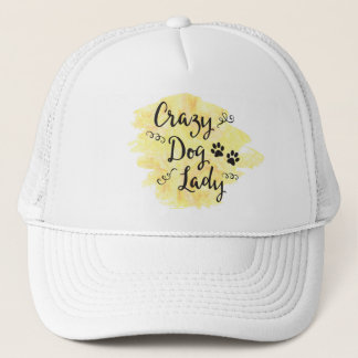 Crazy Dog Lady (Yellow) Trucker Hat