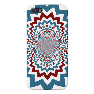 Crazy Dog Lover Paw Prints Red Blue Pattern iPhone 5 Cover