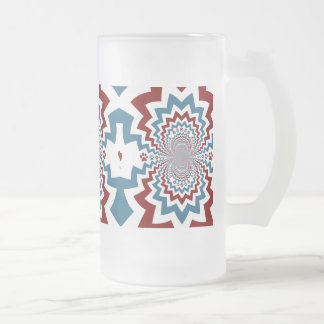 Crazy Dog Lover Paw Prints Red Blue Pattern Coffee Mug