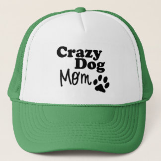 Crazy Dog Mom Trucker Hat Rescue Dog Lovers Gift